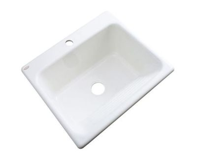 "Drop-In Acrylic 25"" 1-Hole Single Bowl Utility Laundry Sink - New!"
