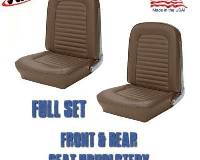 Front And Rear Seat Upholstery Palamino Vinyl By Tmi, 1964-1/2 &1965 Mustang