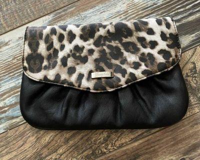 Grace Adele Leopard Clutch