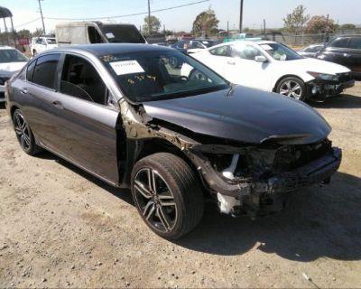 Salvage Gray 2017 Honda Accord Sedan