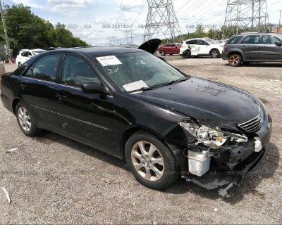Salvage Black 2005 Toyota Camry