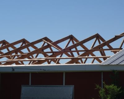 Trusses, sheeting