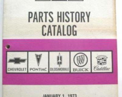 1973-1975 Chevrolet Oldsmobile Buick Pontiac Cadillac Parts History Book Gto 442