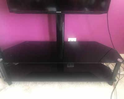 Glass mounting TV stand- like new