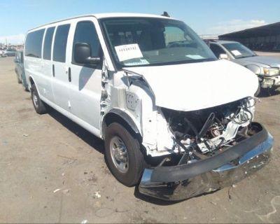 Salvage White 2020 Chevrolet Express Passenger
