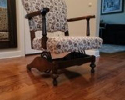 Antique Coil Spring Rocking Chair