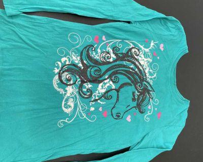 Long sleeve horse T-shirt size 12