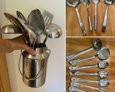 12 piece Stainless Serving & Cooking Utensils