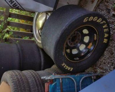 "Racing Aero Steel Rims 15""x 9.5"" Black"