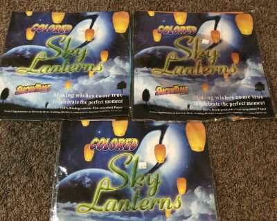 3 sky lanterns new in package