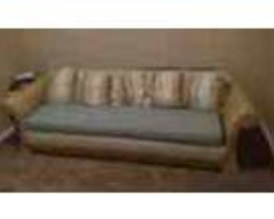 Vintage Wicker Couch With Hidden Bed