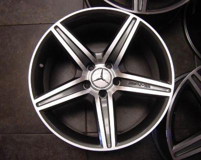 """18"""" Amg Replica Wheels 5x112 Sl500 Sl55 Sl550 Sl63 Staggered Mercedes 8.5 & 9.5"""