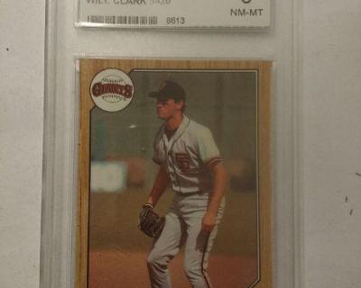 1987 Topps RC Will Clark # 420 GMC NM-MT-8