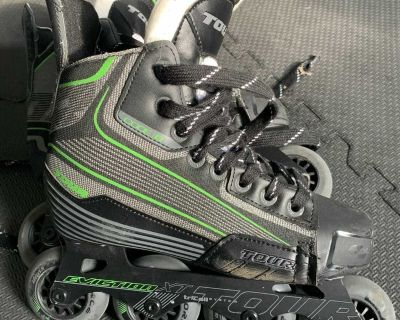 In-line Hockey Skates - Youth size 5 - Eviction XT Tour