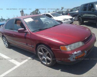 Salvage Red 1994 Honda Accord