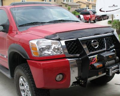 For sale Nissan Titan Winch Mount Bumper Grille Guard 2004-2011 ( possibly also 2003 -2015) (and Armada ?) ALSO Smittybilt X2O COMP - WINCH