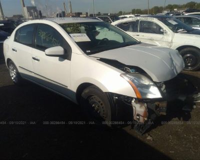 Salvage White 2012 Nissan Sentra