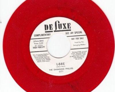 SWINGING PHILLIES ~ L-O-V-E*M-45*RARE RED WAX !