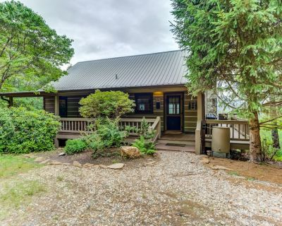 New listing! Cozy retreat w/ great views, deck, private hot tub - Mineral Bluff
