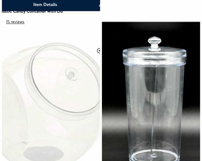 Plastic candy container with lids