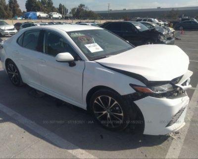 Salvage White 2019 Toyota Camry