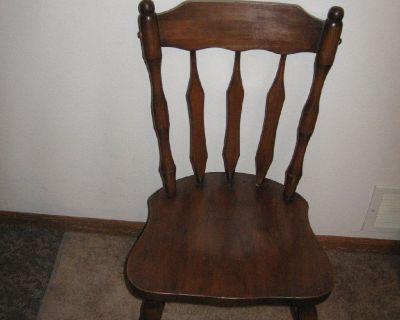 Sturdy wood chair