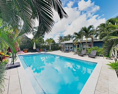 Near Fort Lauderdale Beach! Lush Tropical Retreat w/ Private Pool & Grill - Wilton Manors