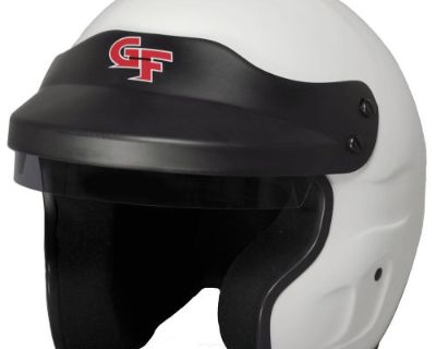 G-force 3121medwh Gf1 Race Helmet Open Face Medium White Sa2015