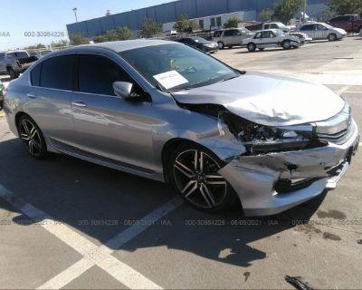 Salvage Silver 2017 Honda Accord Sedan