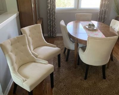 Mid Century Dining Set (11 pieces plus pads): ask for more pics!
