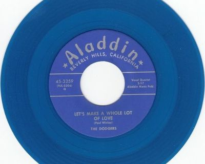 DODGERS ~ Let's Make A Whole Lot Of Love*Mint-45*RARE BLUE WAX !