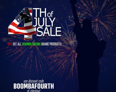 Boomba Racing 4th Of July Weekend Sale!