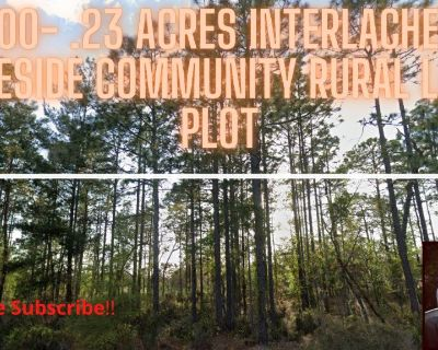 $3500- .23 Acres, Interlachen, FL  Private, Secluded vacant lot