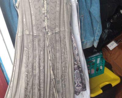 Long summer vintage dress