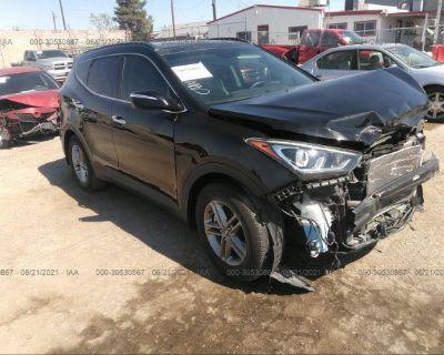 Salvage Black 2017 Hyundai Santa Fe Sport