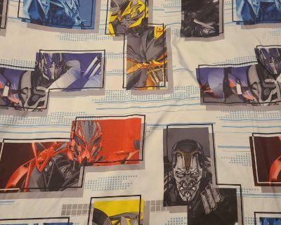 Transformers bedding sheet double