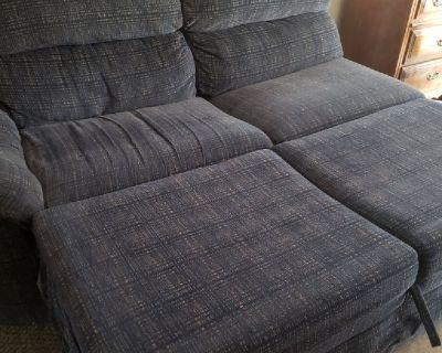 Blue sofa sleeper