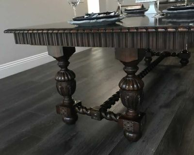 Mahogany Dinning Table 4ft x 9 Ft local pickup