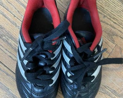 Adidas soccer cleats, size 10T