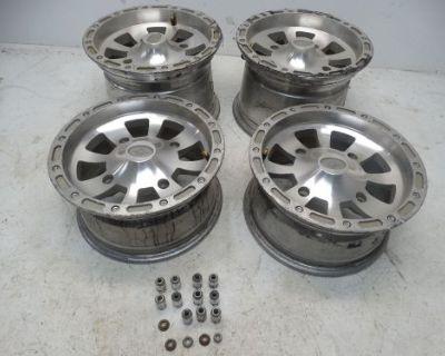 2005 Polaris Sportsman 700 Atv 12x6 12x8 Front & Rear Rims Wheels