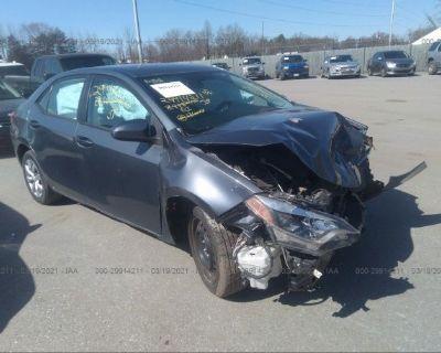 Salvage Gray 2014 Toyota Corolla