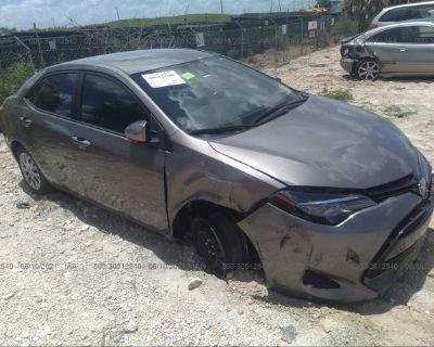 Salvage Gray 2018 Toyota Corolla