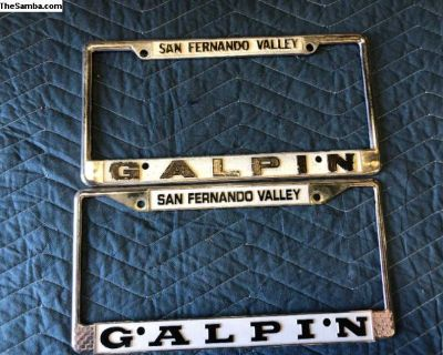 License Plate Frames Galpin/San Fernando Valley