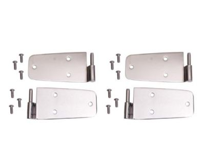 Door Hinges- Stainless Steel Polished For 1976-1993 Jeep