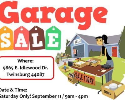 *** Garage Sale Today in Twinsburg! ***