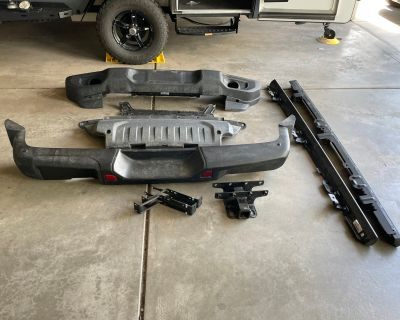 Colorado - 2021 Rubi steel rear bumper, rock rails, sport plastic front bumper, and hitch mount