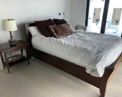 Donate Imported Indonesian Reclaimed Teak Wood Bed Frame-Queen-CK