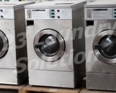 Heavy Duty Maytag Front Load Washer Coin Op 25LB MFR25PCAVS 3PH Stainless Steel Used