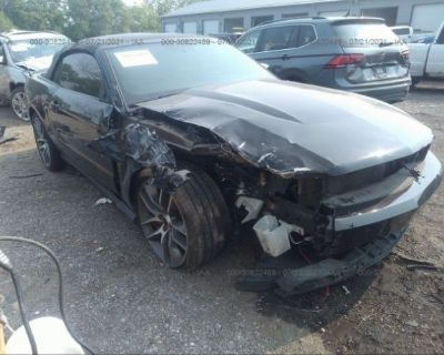 Salvage Black 2012 Ford Mustang