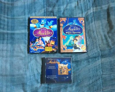 Lot Of Disney Aladdin DVDs And Music CD